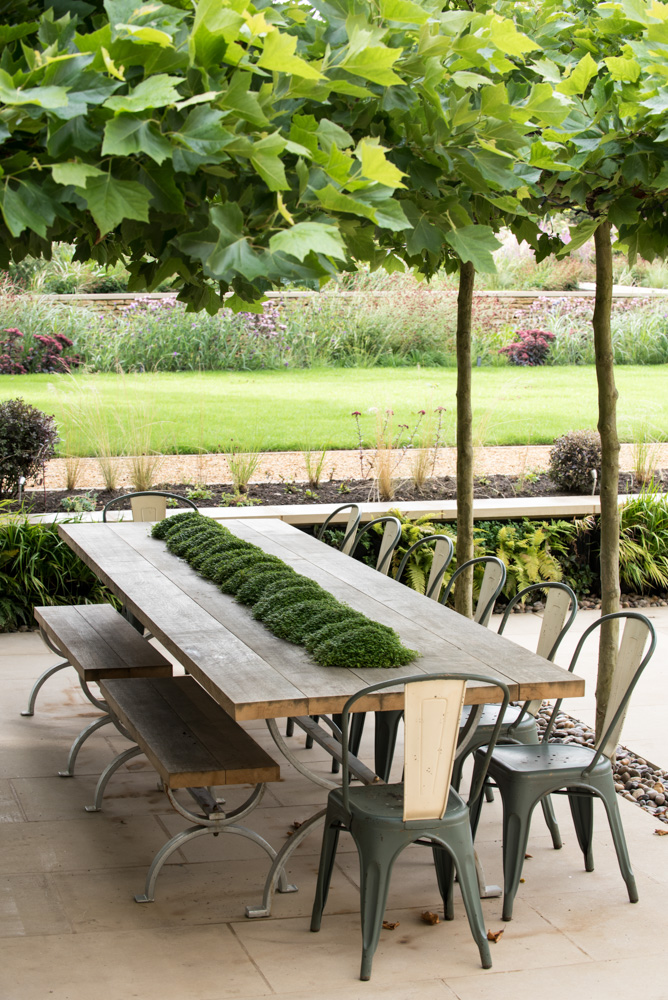 Garden Table under a Caoopy of  Plane Trees